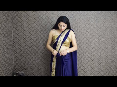How to wear 1 saree in 2 ways | stylish saree drapes for engagement party | साड़ी पहनने का नया तरीका