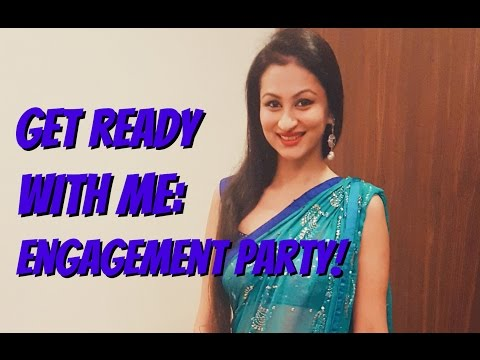 Get ready with me for an indian engagement party!