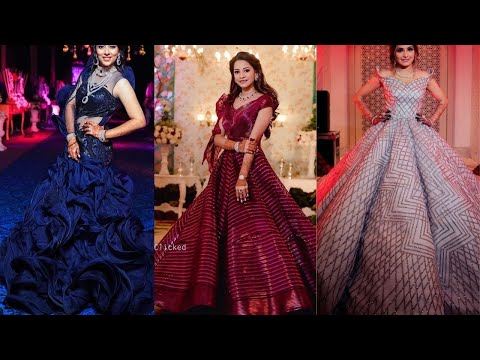 Reception bridal gowns/engagement gowns// party wear/ cindrella gown for indian brides