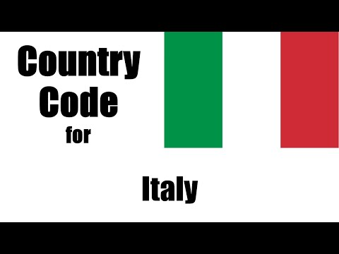 Italy dialing code - italian country code - telephone area codes in italy